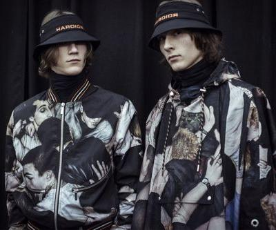 """Realistic """"Mosh-Pit"""" Paintings Cover Dior Homme's Fall/Winter 2017 Collection"""