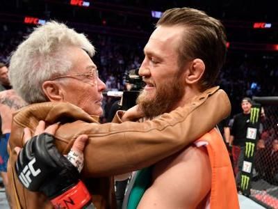 Conor McGregor gave 'Cowboy' Cerrone's grandma a big hug after knocking him out in just 40 seconds