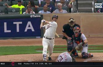 WATCH: Joe Mauer hits first career leadoff homer