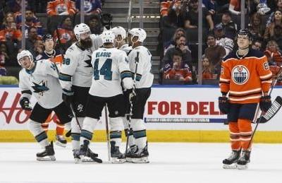 Sharks hand Oilers 5th straight loss