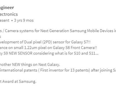 """Rumor: Samsung Will Use A """"New Sensor"""" For The Galaxy S9"""