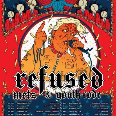 Refused announce 2020 North American tour with anti-Trump poster