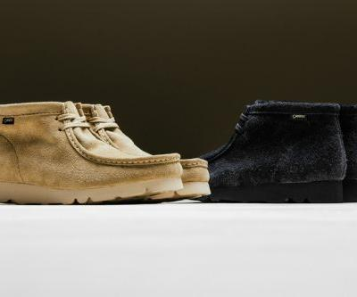 BEAMS Dresses Clarks' Wallabee Boots in GORE-TEX