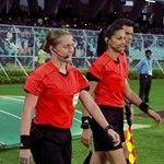 Female referee takes a match at the FIFA U-17 World Cup India 2017