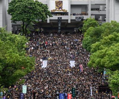 Hong Kong students skip first day of school to join in protests