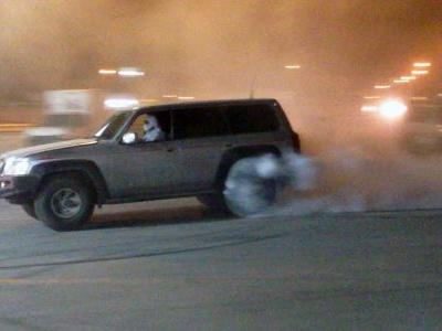 Nissan Patrol Goes Wild At Petrol Station In The Middle East