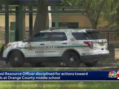 School resource officer disciplined for actions toward 2 girls at Orange County middle school