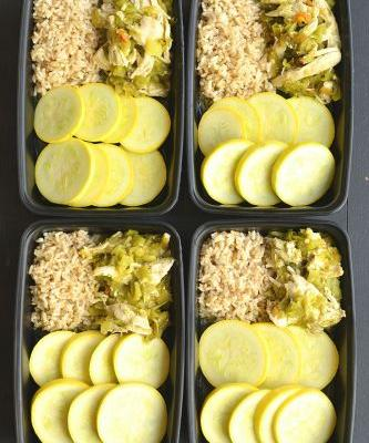 Meal Prep Hatch Green Chile Chicken {GF, Low Cal, Paleo}