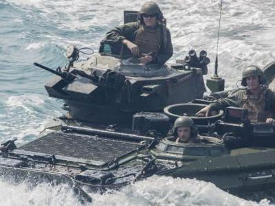 Marines put assault amphibious vehicles back in the water for the first time since one sank and killed 9 service members