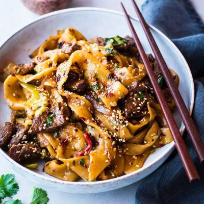 Hand-pulled Noodles with Spicy Lamb