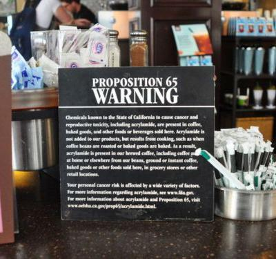 Coffee Companies Prepare to Battle California Cancer Warning Labels