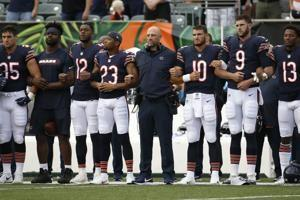 Several games see players demonstrate during national anthem