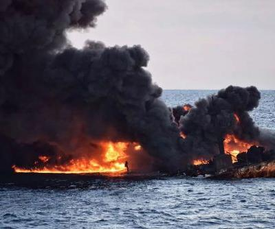 'No hope of finding survivors' on burning oil tanker: Iranian official