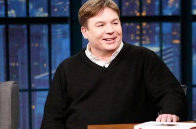 The Gong Show's host: Mike Myers, but in character