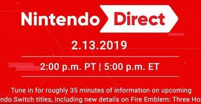 Nintendo Direct Scheduled for February 13