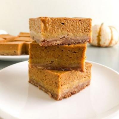 Pumpkin Pie Bars w/Shortbread Crust