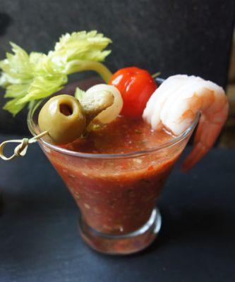 The Bloody Mary Gazpacho Recipe You'll Be Coming Back To All Summer Long