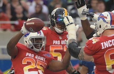AFC storms back to shock NFC at rainy Pro Bowl