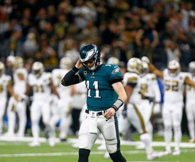 Eagles' season comes unglued as Saints cruise to rout