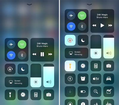 IOS 11 Preview: Control Center Gets Customizable With 3D Touch