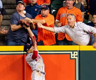 Interfering Astros fan goes on the attack against 'joke' ump