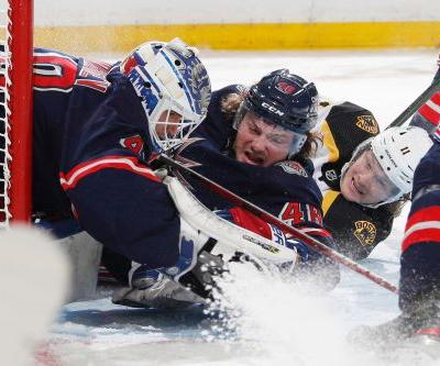 Rangers fall flat in rematch loss to Bruins