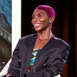 Leave It to Michaela Coel to Pull Off Purple Eyebrows and Matching Hair So Flawlessly