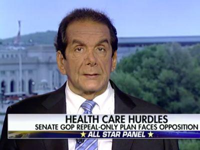 KRAUTHAMMER: GOP healthcare effort is a 'historic' 'epic fail'