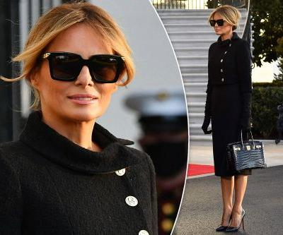 Melania Trump marks end to Donald's presidency in high-priced outfit