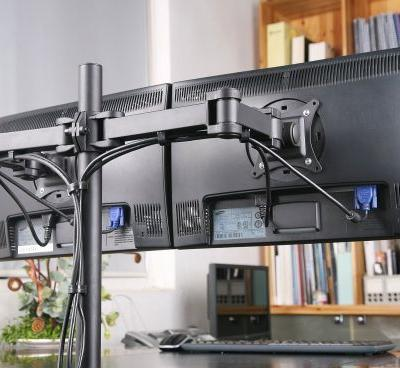 29 Beautiful Dual Monitor Desk Mount Pictures