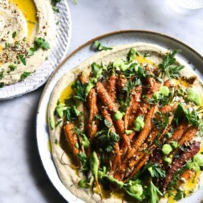 Dukkah honey roasted carrot salad