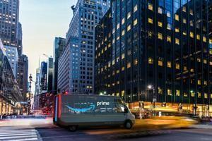 Amazon taps Rivian to build 100,000 custom electric delivery vans at its Illinois factory, starting in 2021