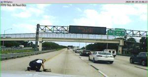 Police Officer Rescues Pup On Busy Florida Interstate