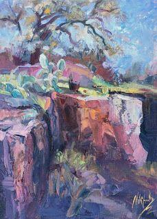Textured Hill Country Painting by Contemporary Impressionist Niki Gulley
