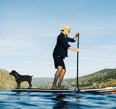 This inflatable paddleboard is relatively affordable and easily stowable - making it a perfect introduction to the popular water sport