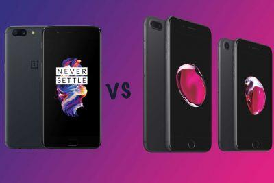 OnePlus 5 vs Apple iPhone 7 vs iPhone 7 Plus: What's the difference?