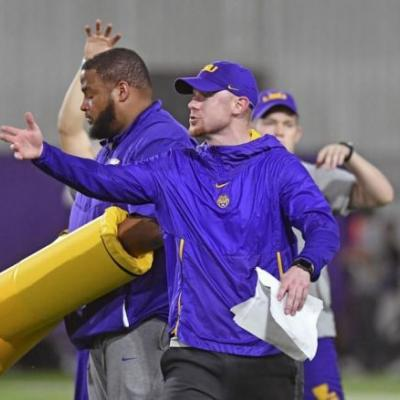 LSU's Ed Orgeron says Steve Ensminger, Joe Brady 'lean on each other,' but makes clear who calls plays