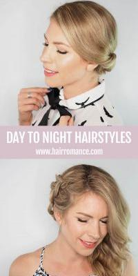 Day-To-Night Style - 2 quick hairstyle tutorials