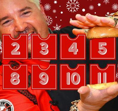 The 12 Days of Guy Fieri: A Tribute to a Food TV Icon