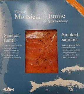 Test shows Listeria monocytogenes in smoked salmon; recall underway