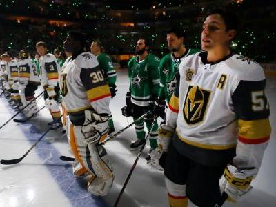 Golden Knights, Stars stand together in tribute to Vegas shooting victims