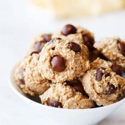 Banana Oatmeal Choco Chip Cookies