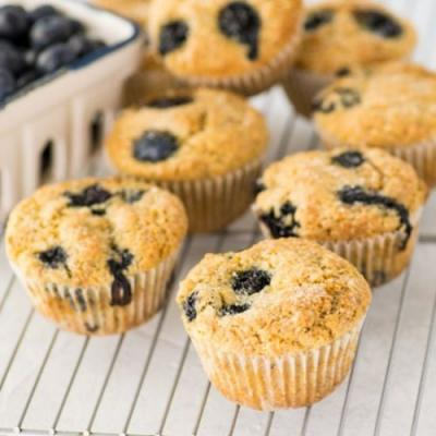 1 Bowl Vegan GF Blueberry Muffins