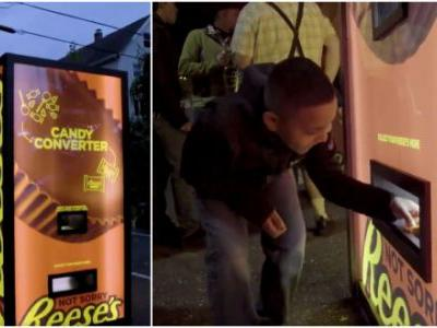 Vending Machine Lets You Swap Crappy Halloween Candy For Reese's