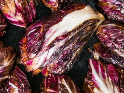 Seared Radicchio with Raisins and Shaved Parmigiano