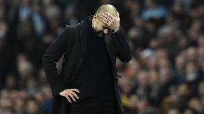 Guardiola sets unwanted record in Man City's defeat to Everton