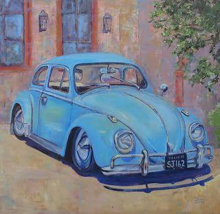 Blue Bug, New Contemporary Painting by Sheri Jones