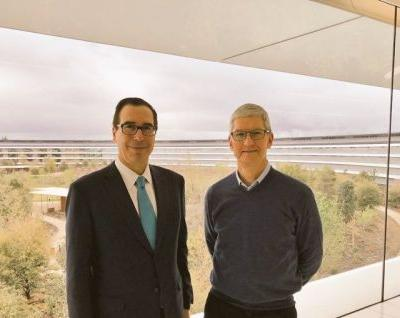 U.S. Treasury Secretary Steven Mnuchin Visits Apple Park