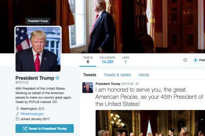 Yesterday's POTUS transition didn't go so smoothly for Twitter