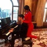 Priyanka Chopra Wore a Sexy Red Jumpsuit While Being Serenaded by Nick Jonas
